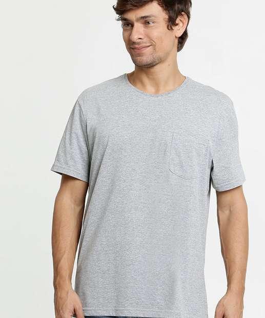 Image_Camiseta Masculina Bolso Frontal Manga Curta