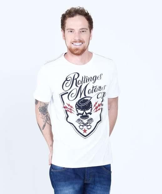 Image_Camiseta Masculina Estampa Caveira Tribo