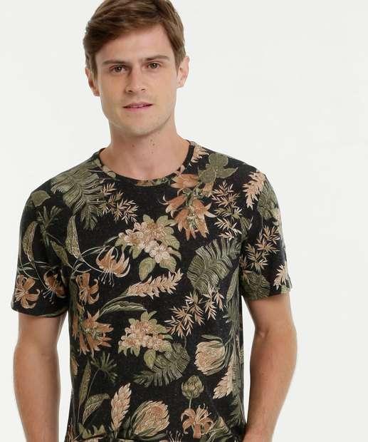 Image_Camiseta Masculina Floral Manga Curta MR