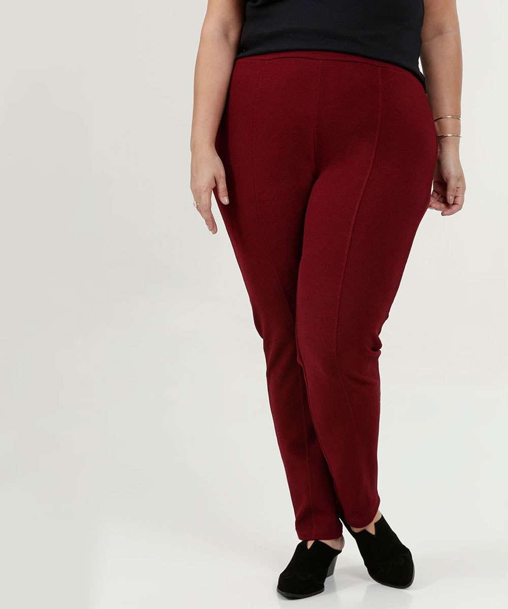 Calça Feminina Legging Crepe Plus Size