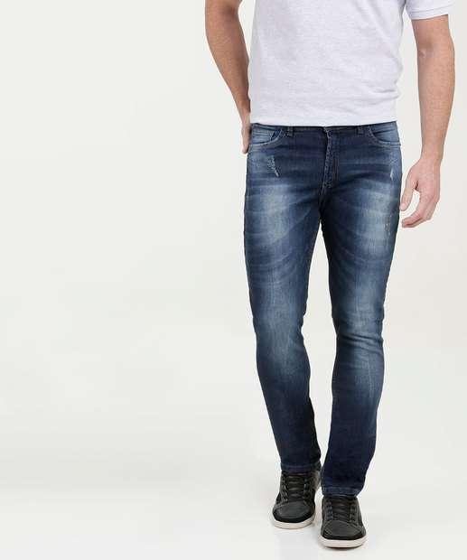 Image_Calça Masculina Jeans Skinny Puídos MR