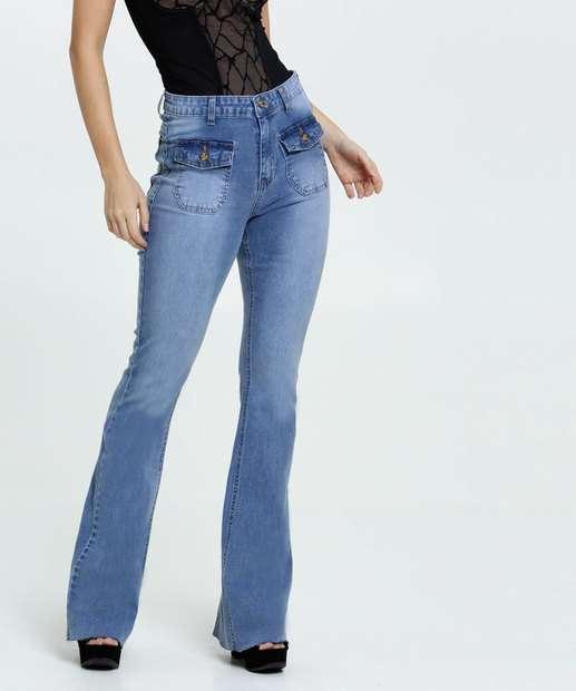 Image_Calça Jeans Flare Stretch Feminina Marisa