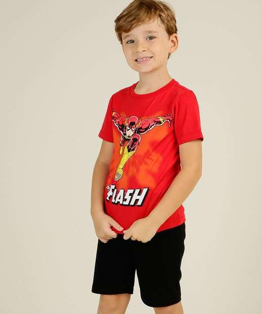 Image_Conjunto Infantil Estampa Flash Liga da Justiça Tam 4 a 10