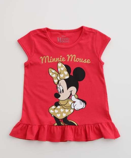 Image_Blusa Infantil Manga Curta Estampa Minnie Disney Tam 1 a 4