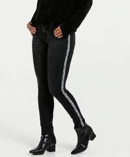 Calça Feminina Jeans Animal Print Marisa