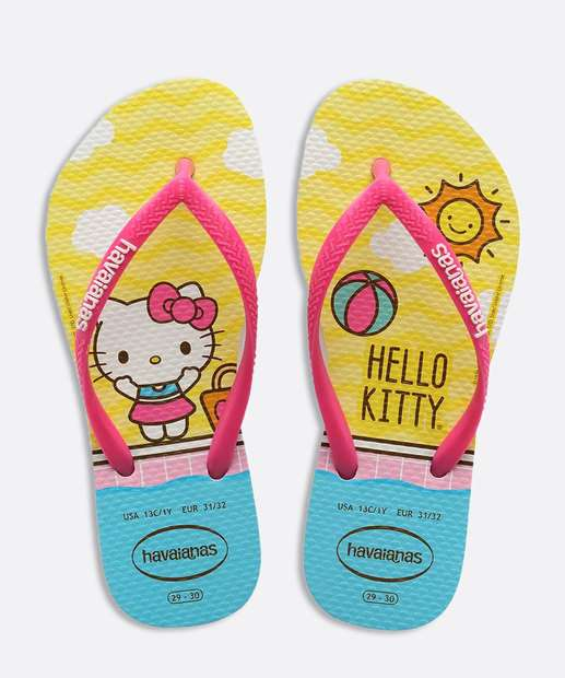 Image_Chinelo Havaianas Infantil Kids Slim Hello Kitty