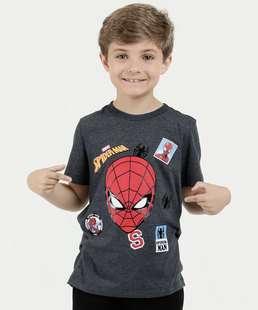 Camiseta Infantil Estampa Homem Aranha Marvel 78eb22fd48