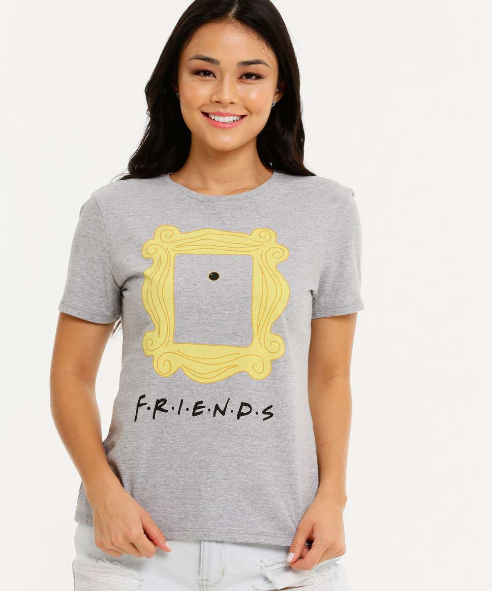 Blusa Feminina Estampa Friends Manga Curta Warner Bros