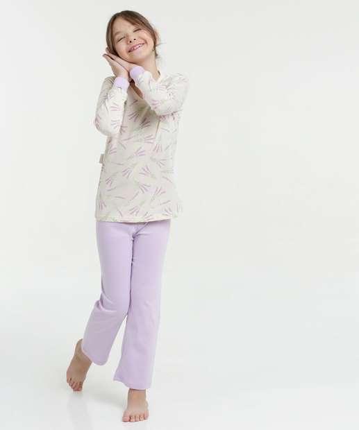Image_Pijama Infantil Estampa Flores Manga Longa Lupo
