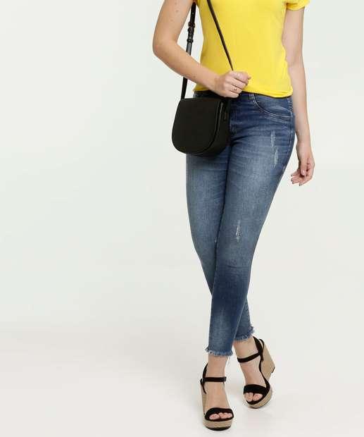 Image_Calça Jeans Skinny Feminina Puídos Strass Biotipo