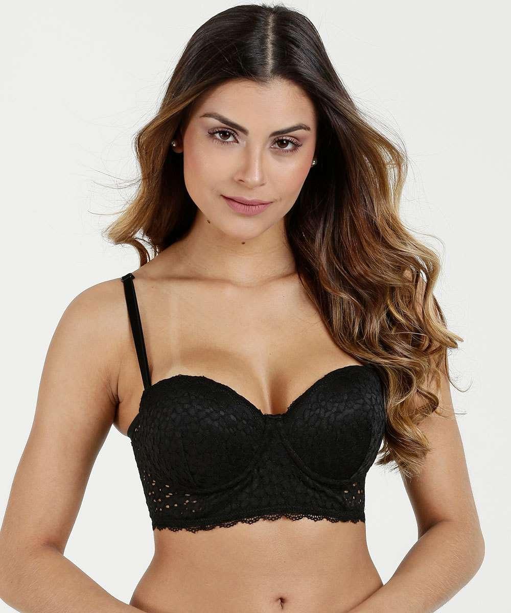 fe8f444d9 Sutiã Feminino Top Corpete Multifuncional Renda Marisa