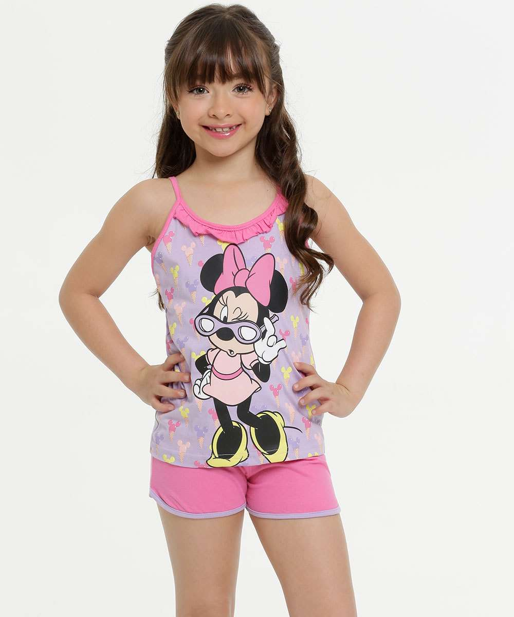 Pijama Infantil Estampa Minnie Disney