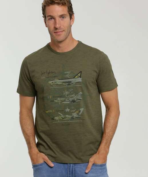 Image_Camiseta Masculina Flamê Estampa Aviões MR