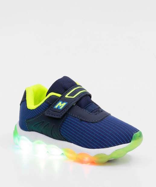 Image_Tênis Infantil Esportivo Velcro Luz de Led
