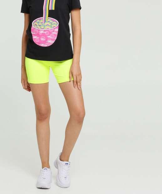 Image_Bermuda Feminina Neon Com Elástico