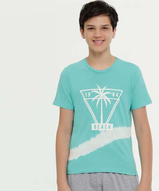 Image_Camiseta Juvenil Estampa Coqueiro Manga Curta MR