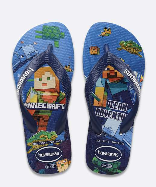 Image_Chinelo Havaianas Infantil Minecraft