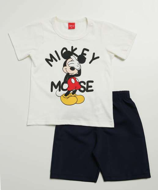 Image_Conjunto Infantil Manga Curta Mickey Disney Tam 1 a 4