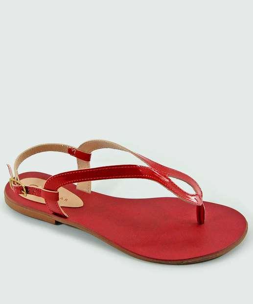 Image_Sandália Feminina Rasteira Verniz Milenar Shoes 1071838