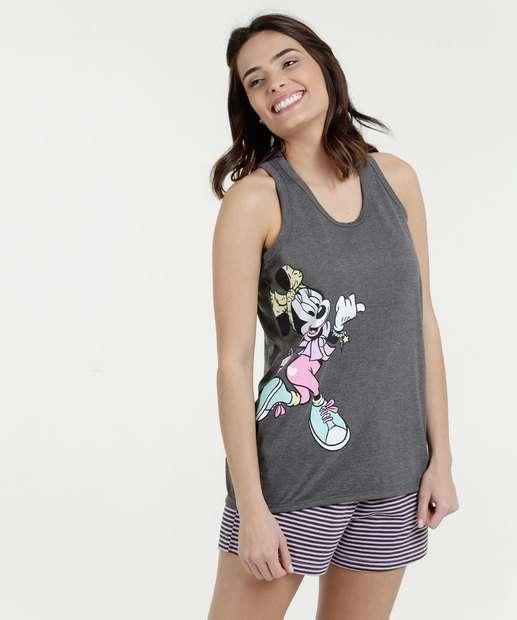 Image_Pijama Feminino Short Doll Nadador Estampa Minnie Disney
