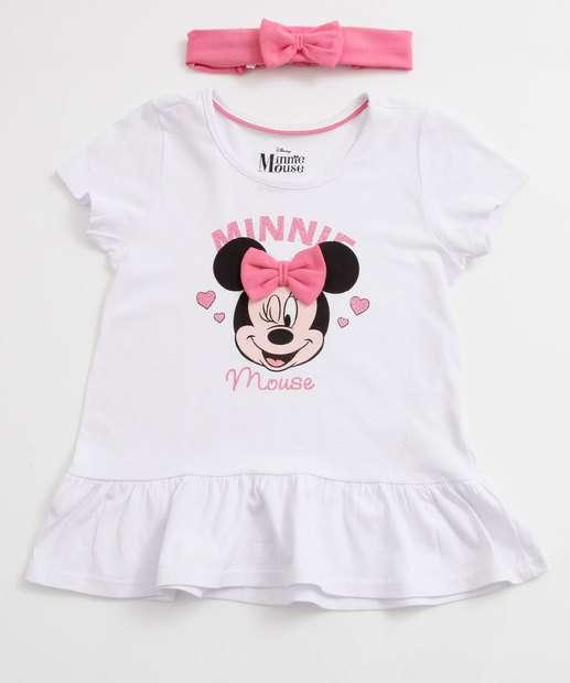 Image_Blusa Infantil Estampa Minnie Brinde Tiara Disney