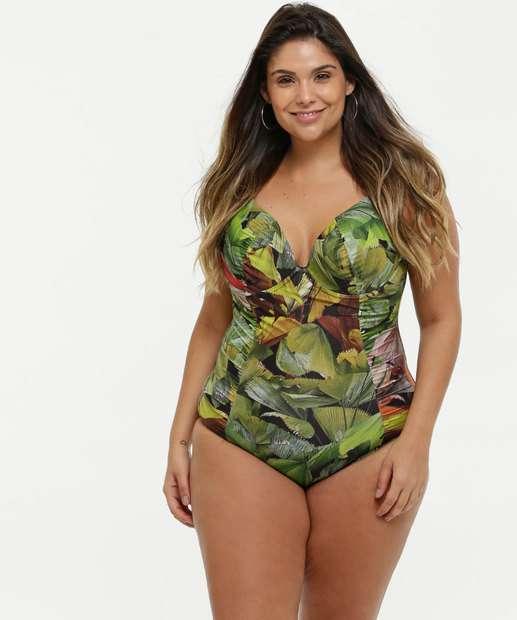 Image_Maiô Feminino Plus Size Estampado Banho de Mar