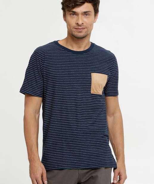 Image_Camiseta Masculina Estampa Listrada Manga Curta