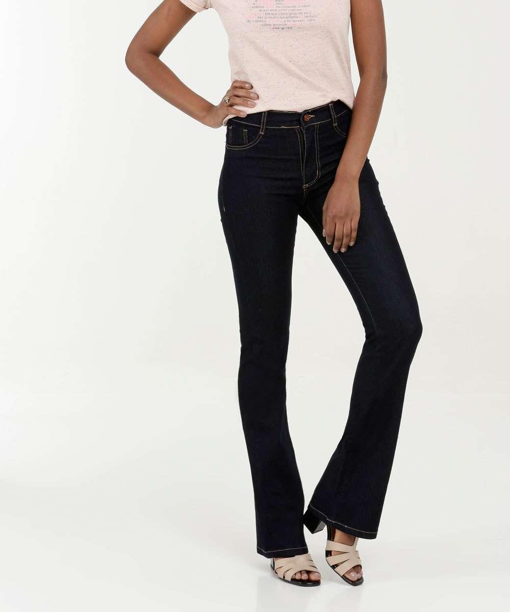 Calça Feminina Jeans Flare Stretch Sawary