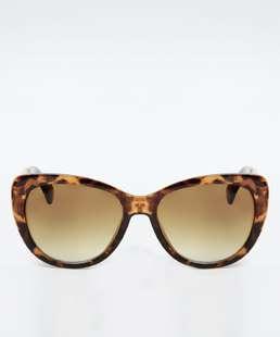 Óculos de Sol Feminino Redondo Estampa Animal Print Marisa