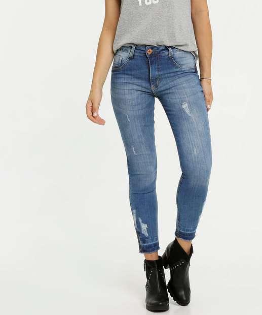 Image_Calça Jeans Stretch Strass Cigarrete Feminina Biotipo
