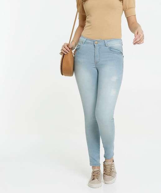 Image_Calça Skinny Puídos Feminina Zune Jeans