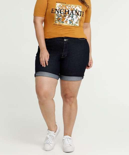 Image_Bermuda Feminina Jeans Barra Dobrada Plus Size Razon