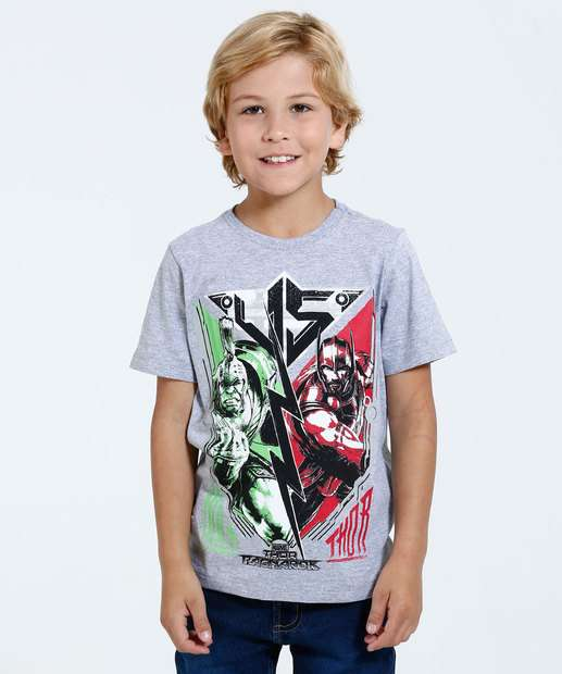 Image_Camiseta Infantil Estampa Thor Hulk Marvel