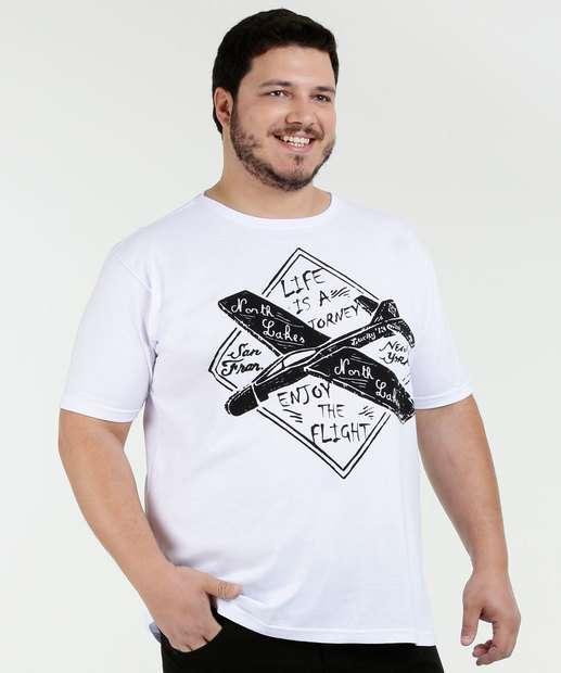 Image_Camiseta Masculina Estampa Frontal Plus Size Águia Tex