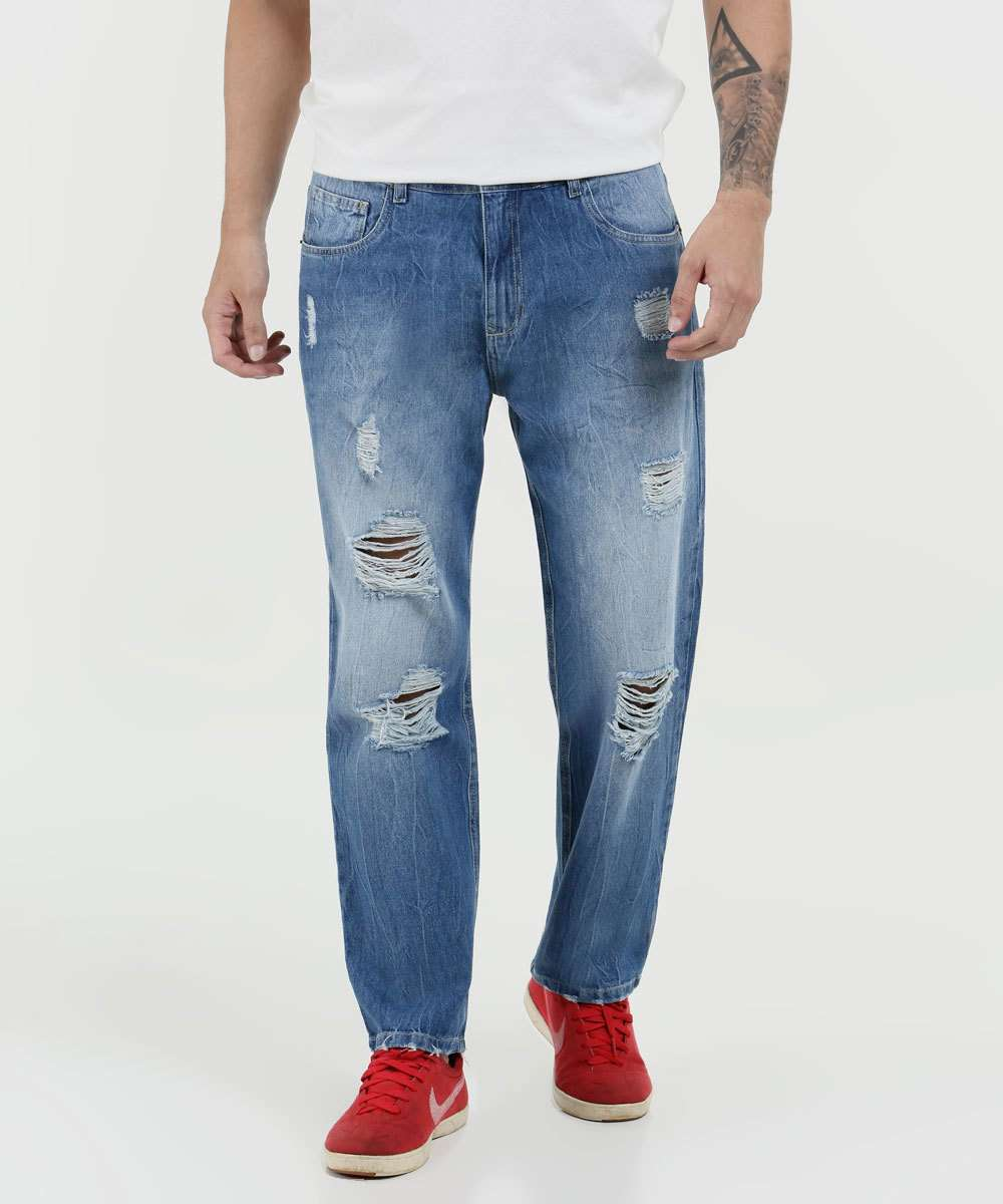 Calça Masculina Jeans Destroyed Mr