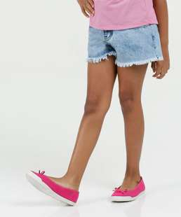 Short Infantil Jeans Marmorizado Marisa