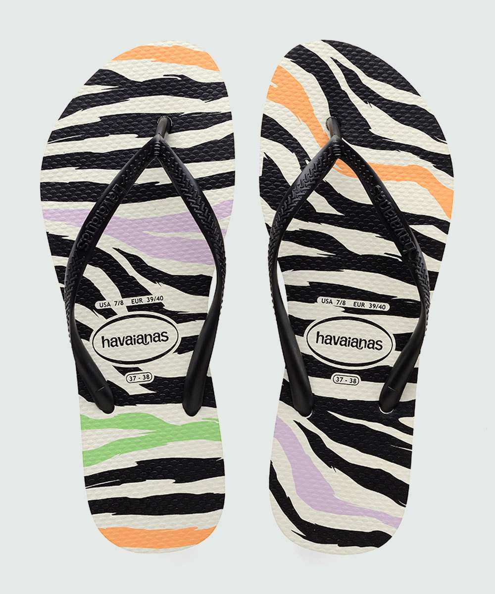 Chinelo Feminino Estampa Animal Print Slim Animals Havaianas