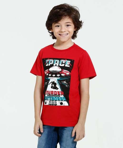 Image_Camiseta Infantil Manga Curta Estampa Marisa