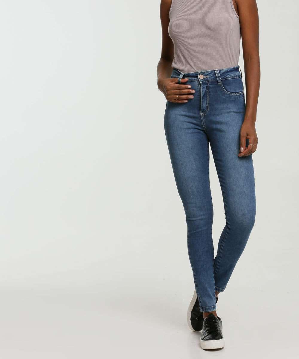 Calça Jeans Skinny Bolsos Sawary