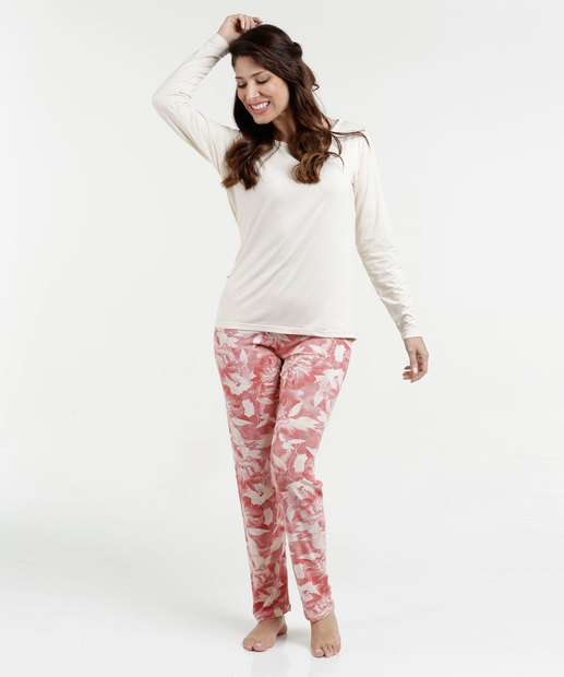 Image_Pijama Feminino Estampa Floral Manga Longa Lupo