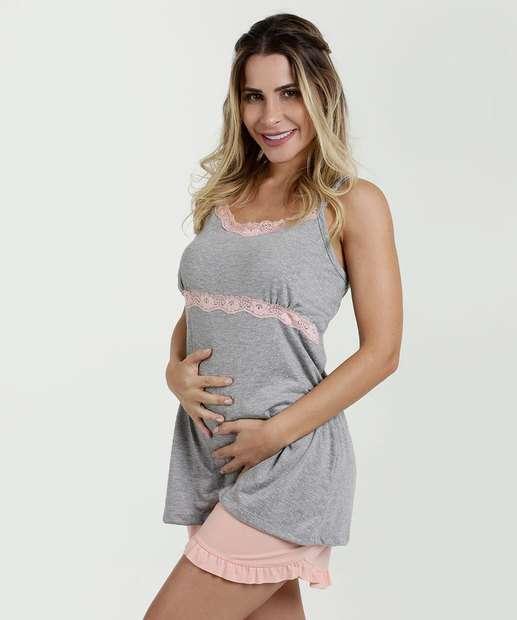 Image_Pijama Feminino Amamentação Estampa Bolinhas Marisa