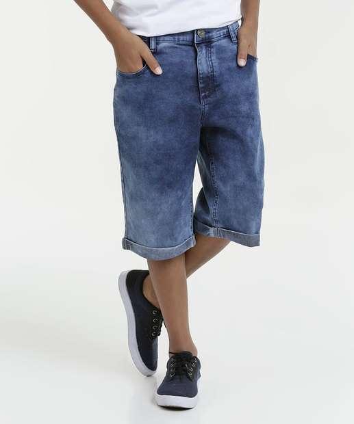 Image_Bermuda Juvenil Jeans Marmorizada Marisa