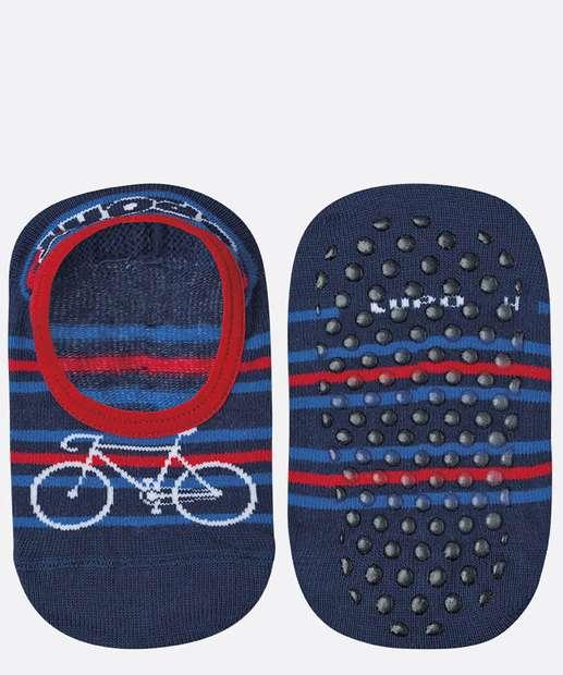 Image_Meia Infantil Sapatilha Estampa Bicicleta Lupo