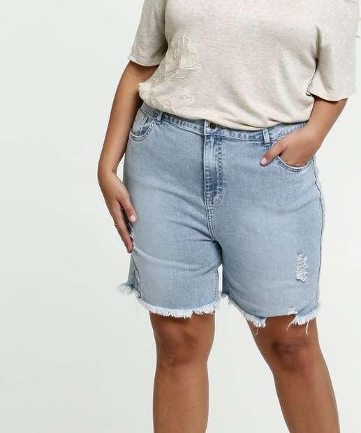 Image_Bermuda Feminina Jeans Destroyed Plus Size Marisa