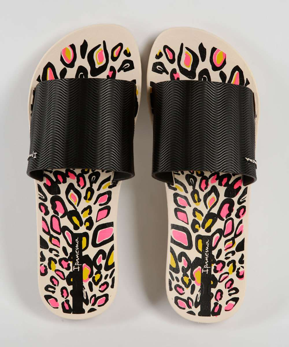Chinelo Feminino Slide Estampa Animal Print Way Ipanema
