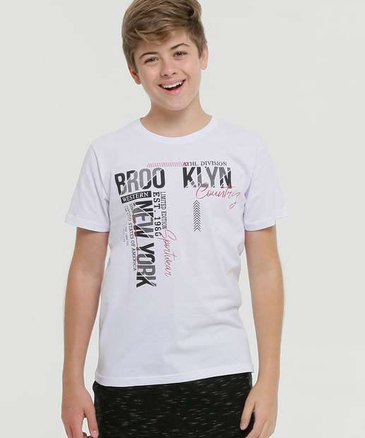 Image_Camiseta Juvenil Estampada Manga Curta
