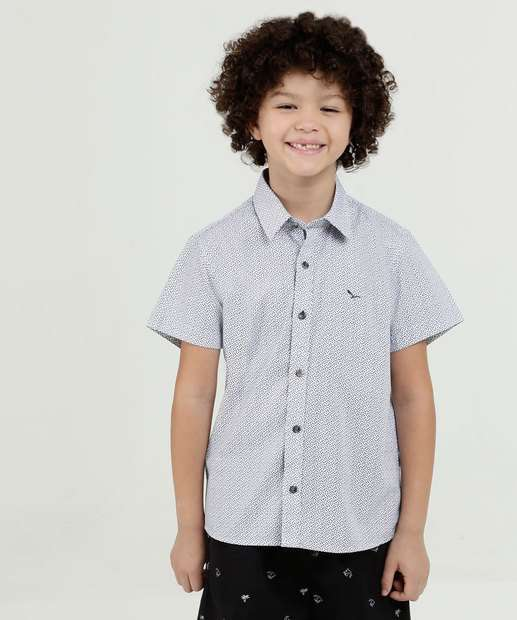 Image_Camisa Infantil Estampa Folhas Manga Curta Yacht Master