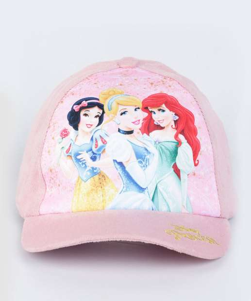 Image_Boné Infantil Frase Bordada Princesas Disney