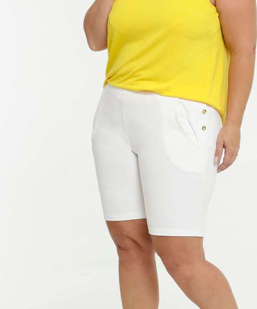 Image_Bermuda Feminina Textura Botões Plus Size