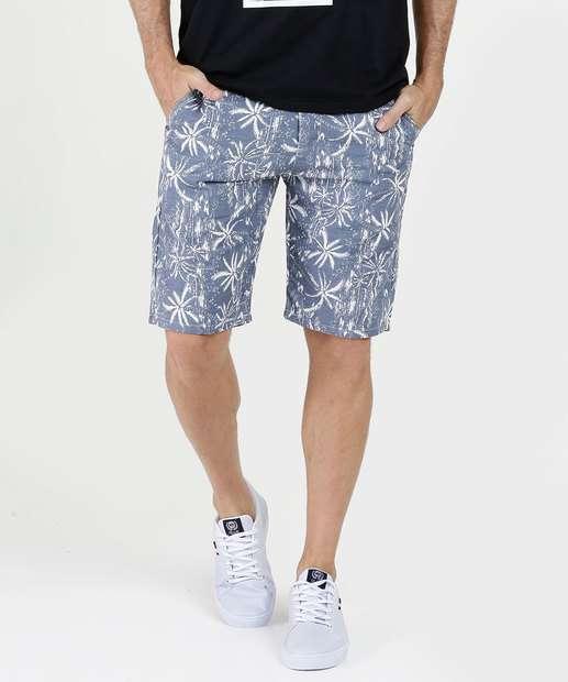 Image_Bermuda Masculina Estampa Coqueiros Five Jeans